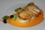 Halibut-escabeche•lemon•dates