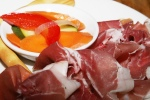 Prosciutto Di Parma (grissini, accompaniment), pickled vegetables and bread sticks