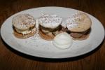 Chocolate, Vanilla and Espresso Gelato cookies