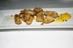 Crisp tempura artichokes with saffron aioli