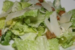 The NB caesar salad - romaine leaves, parmigiano-reggiano, croutons