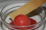Strawberry sorbet - rhubarb compote, sugar cookie