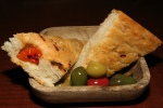 Nona's Focaccia with Warmed Olives