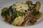 Duck + Noodles, fennel sausage, confit Pekin, duck sauce, crema, zucca lunga