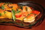Sambuca Shrimp, fried polenta, raw tomato sauce