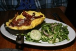 Frittatti - Cinnamon cap mushrooms, bacon and cheddar with arugula salad $11.00