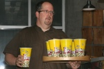 Big Cheese, Kevin Durkee (@cheesewerks) serving Parmesan Herb Truffle Popcorn