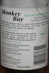 Monkey Bay Sauvignon Blanc 2012 New Zealand 36.00