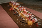 Bruschetta Rustica 9.77 Focaccia roasted garlic Roma tomatoes Grana Padano basil balsamic reduction