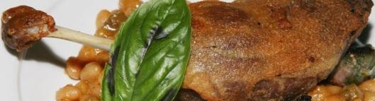 Cassoulet - duck confit leg, crispy braised pork belly, basil sausage, white beans