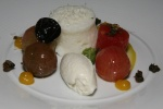 Heirloom Tomato - watermelon curry bleu cheese