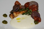 Octopus - potato salsa verde chorizo