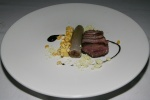 Duck - corn black garlic leek