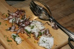 Charred Squid with Chili and Oregano