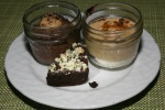 Chocolate Cream Pie, Caramel Parfait, Brownies with Celery Milk Crumble