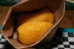 Empanadas with Aji - (2 pieces) Corn meal, beef, potato, L5S, aji