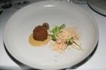 Squab leg croquette, foie sauce