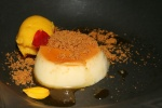 Raw Forest Honey - Roasted Garlic, Crème Caramel, Butternut, Apple Sorbet Molasses Crumble