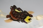 Milk Chocolate & Hazelnuts - Crystallized Cocoa Nib, Bartlett Pear Espuma