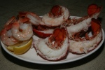 More delicious tender Lobster Tails, Shrimp, Lemon Wedges