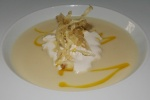 Soup - Roasted Parsnip & Apple Soup with Parsnip Chips