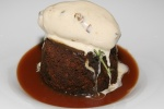 Sticky Toffee Pudding - Sticky Toffee Pudding with Date Ice Cream