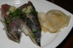 Aji (鯵) (Japanese horse mackerel) ($7.50)