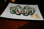 26 Futomaki (太巻き) - a thick roll packed with eel egg cucumber and artificial crab ($13.00)