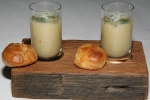 potato leek vichyssoise goat cheese brioche