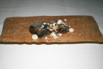 Pied de Mouton (hedgehog mushroom) roasted Jerusalem artichoke and Perigord black truffle