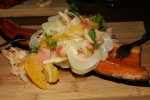 Smoked Rainbow Trout, fennel, citrus, preserved ginger, pickled Arctic Char