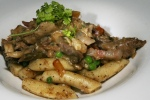 'Duck Marsha' roasted + confit duck, fennel sausage, bacon, Sicilian Gnocchi, duck sauce, crema, 5 spice