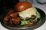 The Whippoorwill Burger ground prime beef cheddar cheese lettuce tomato onion Russian dressing bun $14