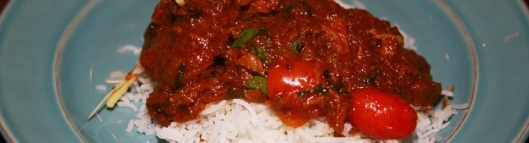 Mom's magic lamb – slowly braised home-style with lots of onions and basmati (local) Saffron pilaf