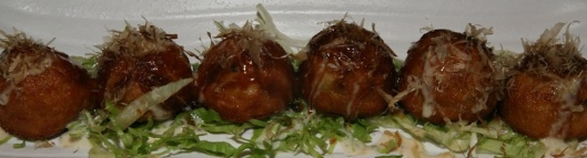 J2 Takoyaki (delicious ball shaped snack with diced octopus inside) $5.00