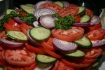 Tomato, Cucumber, Red Onion