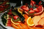 Fruit Platter Watermelon, Orange, Pineapple, Cantaloupe, Strawberries, Blackberries, Kiwi