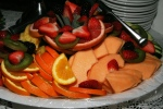 Fruit Platter Orange, Pineapple, Cantaloupe, Strawberries, Blackberries, Kiwi