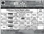 Free Times Cafe February 2014 Calendar