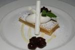Lemon bar - shortbread crust, lemon meringue, fresh whipped cream