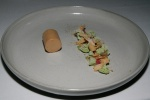 Foie gras (rhubarb freezie sorrel meringue frozen shortbread) ($19 per person)