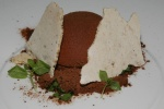 Chocolate • spearmint • cocoa • more chocolate (chocolate bombe caramelized white chocolate)