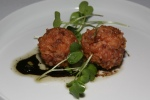 Amuse Bouche • blood sausage meatball and garlic