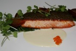 Steelhead Trout • dandelion • pluot • pine nuts