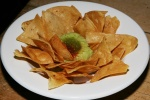 FIESTA Guacamole + salsa verde with chips $5.50