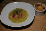 FIESTA Trout Aguachile - rougher & caliente version of ceviche with garlic chips $8.50