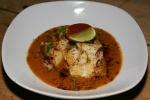 FIESTA Pescado al Mojo - Sustainable fishy-sautéed with garlic, pasilla, sweet potato purée $13.00