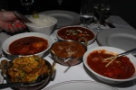 Dinner for Four five dishes 3 chicken, meat or seafood; 2 vegetarian, Basmati rice, plain Naan and Raita