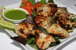 Grouper Methi Tikka - grouper fillet marinated in fenugreek lemon and ginger cooked over charcoal