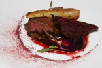 Seared Duck Breast with red cabbage, parsnips and beets